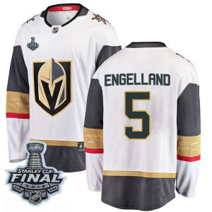 Fanatics Branded Deryk Engelland Vegas Golden Knights Men's Breakaway White Away 2018 Stanley Cup Final Patch Jersey - Gold
