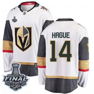 Fanatics Branded Nicolas Hague Vegas Golden Knights Men's Breakaway White Away 2018 Stanley Cup Final Patch Jersey - Gold