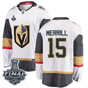 Fanatics Branded Jon Merrill Vegas Golden Knights Men's Breakaway White Away 2018 Stanley Cup Final Patch Jersey - Gold