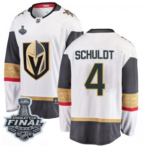 Fanatics Branded Jimmy Schuldt Vegas Golden Knights Men's Breakaway White Away 2018 Stanley Cup Final Patch Jersey - Gold