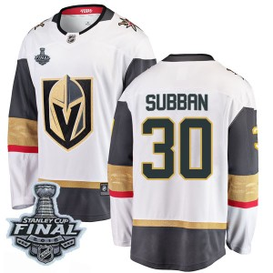 Fanatics Branded Malcolm Subban Vegas Golden Knights Men's Breakaway White Away 2018 Stanley Cup Final Patch Jersey - Gold
