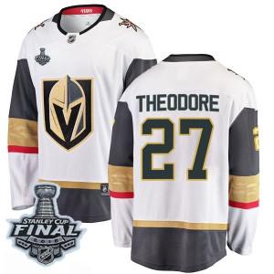 Fanatics Branded Shea Theodore Vegas Golden Knights Men's Breakaway White Away 2018 Stanley Cup Final Patch Jersey - Gold