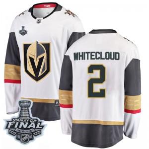 Fanatics Branded Zach Whitecloud Vegas Golden Knights Men's Breakaway White Away 2018 Stanley Cup Final Patch Jersey - Gold