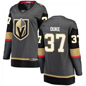 Fanatics Branded Reid Duke Vegas Golden Knights Women's Breakaway Black Home Jersey - Gold