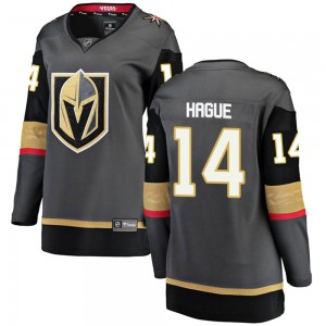 Fanatics Branded Nicolas Hague Vegas Golden Knights Women's Breakaway Black Home Jersey - Gold