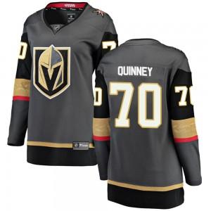 Fanatics Branded Gage Quinney Vegas Golden Knights Women's Breakaway Black Home Jersey - Gold
