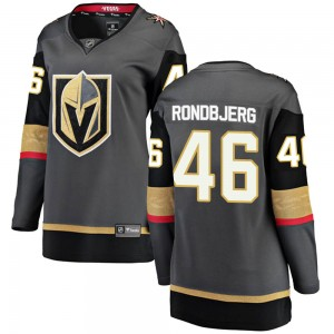 Fanatics Branded Jonas Rondbjerg Vegas Golden Knights Women's Breakaway Black Home Jersey - Gold