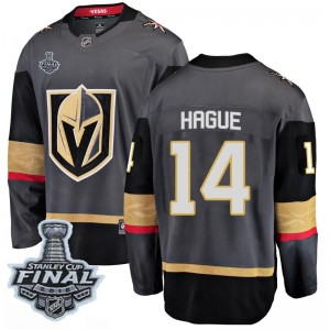 Fanatics Branded Nicolas Hague Vegas Golden Knights Men's Breakaway Black Home 2018 Stanley Cup Final Patch Jersey - Gold