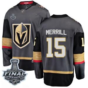 Fanatics Branded Jon Merrill Vegas Golden Knights Men's Breakaway Black Home 2018 Stanley Cup Final Patch Jersey - Gold
