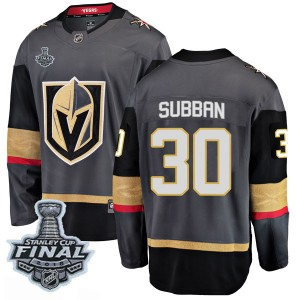 Fanatics Branded Malcolm Subban Vegas Golden Knights Men's Breakaway Black Home 2018 Stanley Cup Final Patch Jersey - Gold