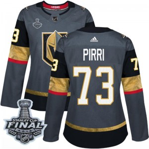 Adidas Brandon Pirri Vegas Golden Knights Women's Authentic Gray Home 2018 Stanley Cup Final Patch Jersey - Gold