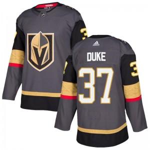 Adidas Reid Duke Vegas Golden Knights Men's Authentic Gray Home Jersey - Gold