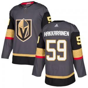 Adidas Mikael Hakkarainen Vegas Golden Knights Men's Authentic Gray Home Jersey - Gold