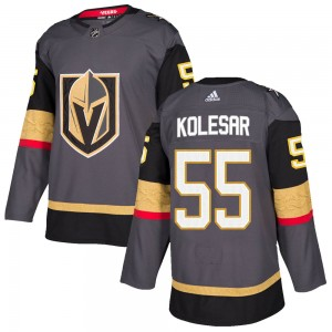 Adidas Keegan Kolesar Vegas Golden Knights Men's Authentic ized Gray Home Jersey - Gold