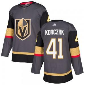 Adidas Kaedan Korczak Vegas Golden Knights Men's Authentic Gray Home Jersey - Gold