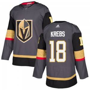 Adidas Peyton Krebs Vegas Golden Knights Men's Authentic ized Gray Home Jersey - Gold