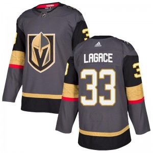 Adidas Maxime Lagace Vegas Golden Knights Men's Authentic Gray Home Jersey - Gold