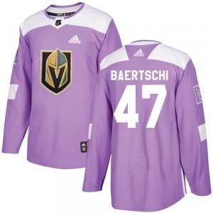 Adidas Sven Baertschi Vegas Golden Knights Men's Authentic Fights Cancer Practice Jersey - Purple