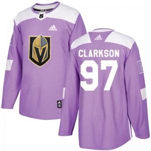 Adidas David Clarkson Vegas Golden Knights Men's Authentic Fights Cancer Practice Jersey - Purple