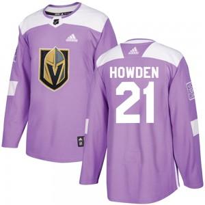 Adidas Brett Howden Vegas Golden Knights Men's Authentic Fights Cancer Practice Jersey - Purple