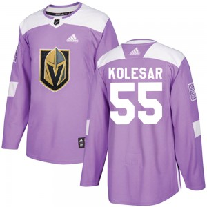 Adidas Keegan Kolesar Vegas Golden Knights Men's Authentic ized Fights Cancer Practice Jersey - Purple