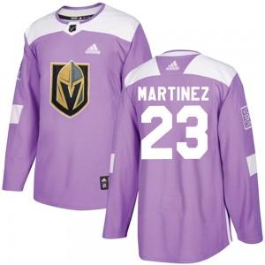 Adidas Alec Martinez Vegas Golden Knights Men's Authentic ized Fights Cancer Practice Jersey - Purple