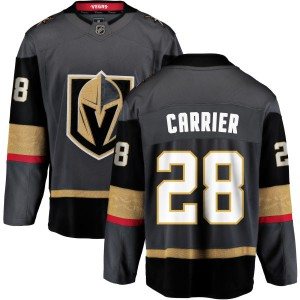 Fanatics Branded William Carrier Vegas Golden Knights Youth Black Home Breakaway Jersey - Gold