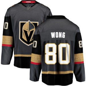 Fanatics Branded Tyler Wong Vegas Golden Knights Youth Black Home Breakaway Jersey - Gold