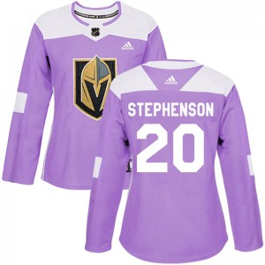 Adidas Chandler Stephenson Vegas Golden Knights Women's Authentic Fights Cancer Practice 2018 Stanley Cup Final Patch Jersey - P