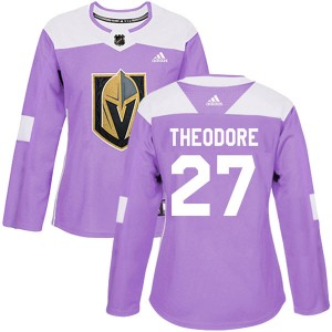 d7524b51d Adidas Shea Theodore Vegas Golden Knights Women s Authentic Fights Cancer  Practice 2018 Stanley Cup Final Patch