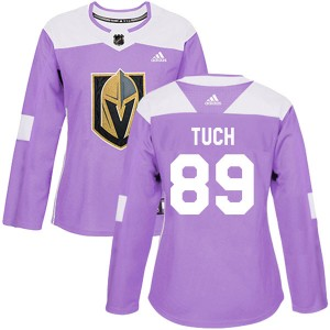 Adidas Alex Tuch Vegas Golden Knights Women's Authentic Fights Cancer Practice 2018 Stanley Cup Final Patch Jersey - Purple