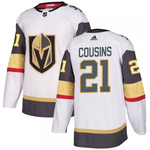 Adidas Nick Cousins Vegas Golden Knights Youth Authentic ized White Away Jersey - Gold