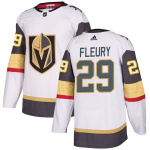 Adidas Marc-Andre Fleury Vegas Golden Knights Youth Authentic White Away Jersey - Gold