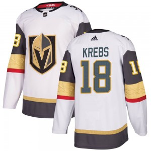 Adidas Peyton Krebs Vegas Golden Knights Youth Authentic ized White Away Jersey - Gold