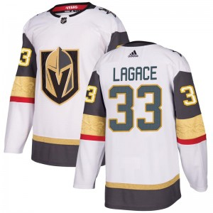 Adidas Maxime Lagace Vegas Golden Knights Youth Authentic White Away Jersey - Gold