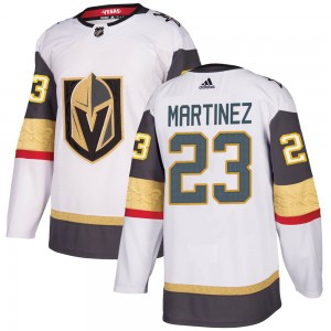 Adidas Alec Martinez Vegas Golden Knights Youth Authentic ized White Away Jersey - Gold