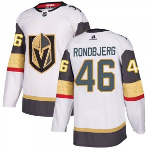 Adidas Jonas Rondbjerg Vegas Golden Knights Youth Authentic White Away Jersey - Gold