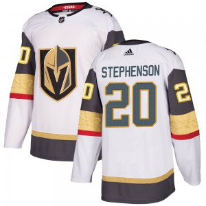 Adidas Chandler Stephenson Vegas Golden Knights Youth Authentic White Away Jersey - Gold