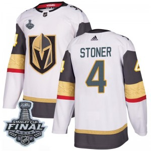 d2e9aa90a Adidas Clayton Stoner Vegas Golden Knights Men s Authentic White Away 2018  Stanley Cup Final Patch Jersey