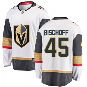 Fanatics Branded Jake Bischoff Vegas Golden Knights Men's Breakaway White Away Jersey - Gold
