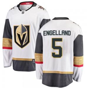 Fanatics Branded Deryk Engelland Vegas Golden Knights Men's Breakaway White Away Jersey - Gold