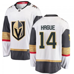 Fanatics Branded Nicolas Hague Vegas Golden Knights Men's Breakaway White Away Jersey - Gold
