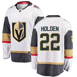 Fanatics Branded Nick Holden Vegas Golden Knights Men's Breakaway White Away Jersey - Gold