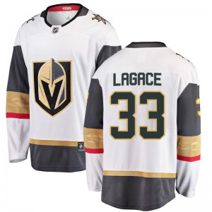 Fanatics Branded Maxime Lagace Vegas Golden Knights Men's Breakaway White Away Jersey - Gold