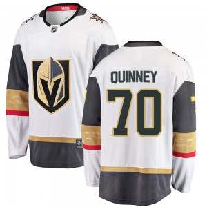 Fanatics Branded Gage Quinney Vegas Golden Knights Men's Breakaway White Away Jersey - Gold