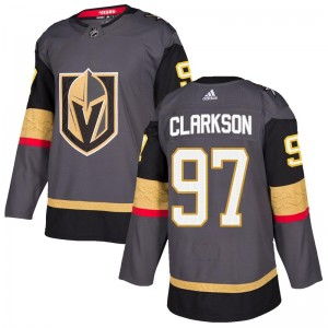 Adidas David Clarkson Vegas Golden Knights Youth Authentic Gray Home Jersey - Gold