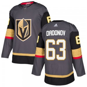 Adidas Evgenii Dadonov Vegas Golden Knights Youth Authentic Gray Home Jersey - Gold
