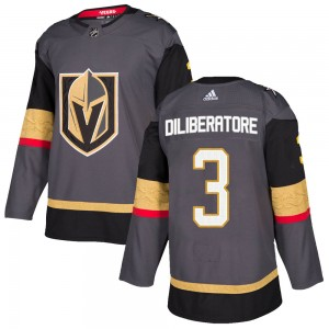 Adidas Peter DiLiberatore Vegas Golden Knights Youth Authentic Gray Home Jersey - Gold