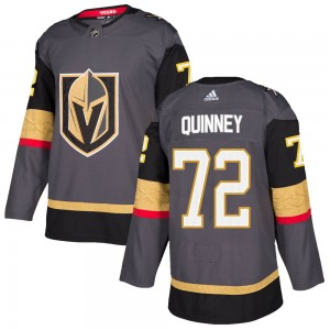 Adidas Gage Quinney Vegas Golden Knights Youth Authentic ized Gray Home Jersey - Gold