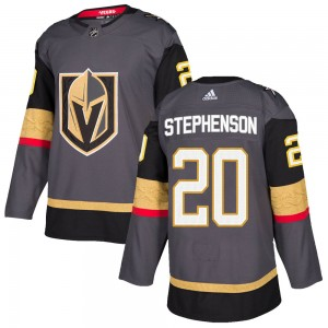 Adidas Chandler Stephenson Vegas Golden Knights Youth Authentic Gray Home Jersey - Gold